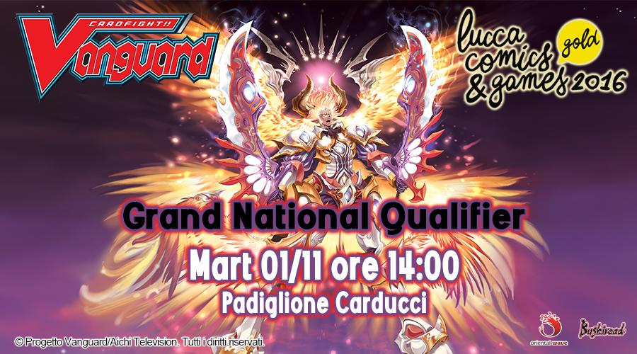 Grand National Qualifier a Lucca Comics!