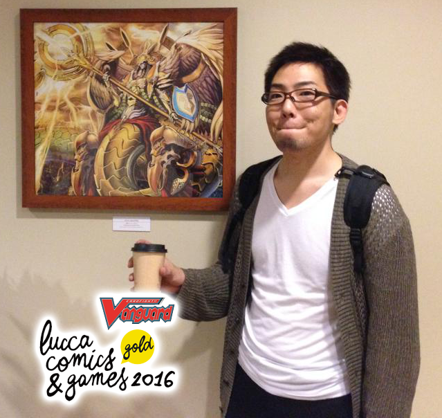 Daisuke Izuka a Lucca Comics allo stand Vanguard!
