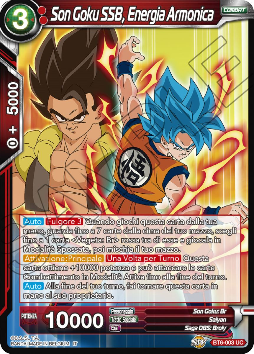 BT6-007 Italiano Vegeta SSB DB Dragon Ball Super Card Game Non Comune Energia Armonica